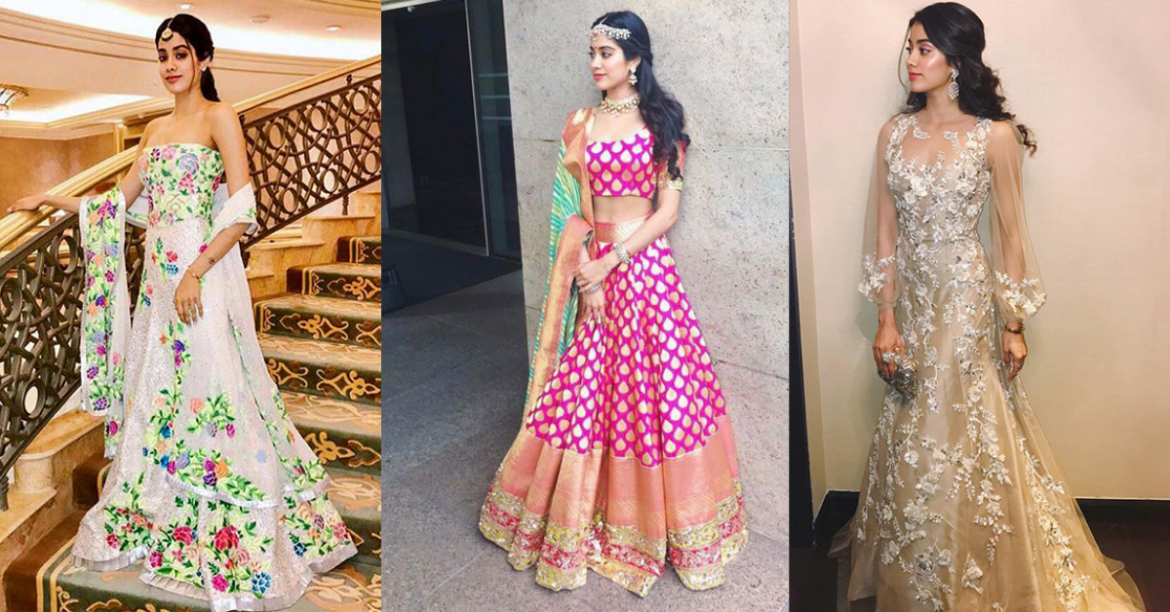 4 Wedding Outfits Inspired from the Style Star Janhvi Kapoor