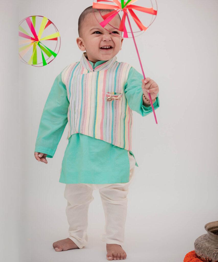 Nehru Jacket Set For Boys