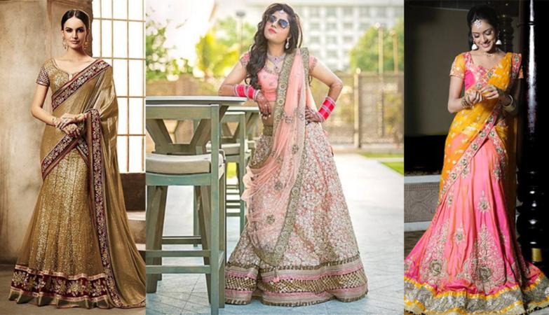 best lehenga saree designs
