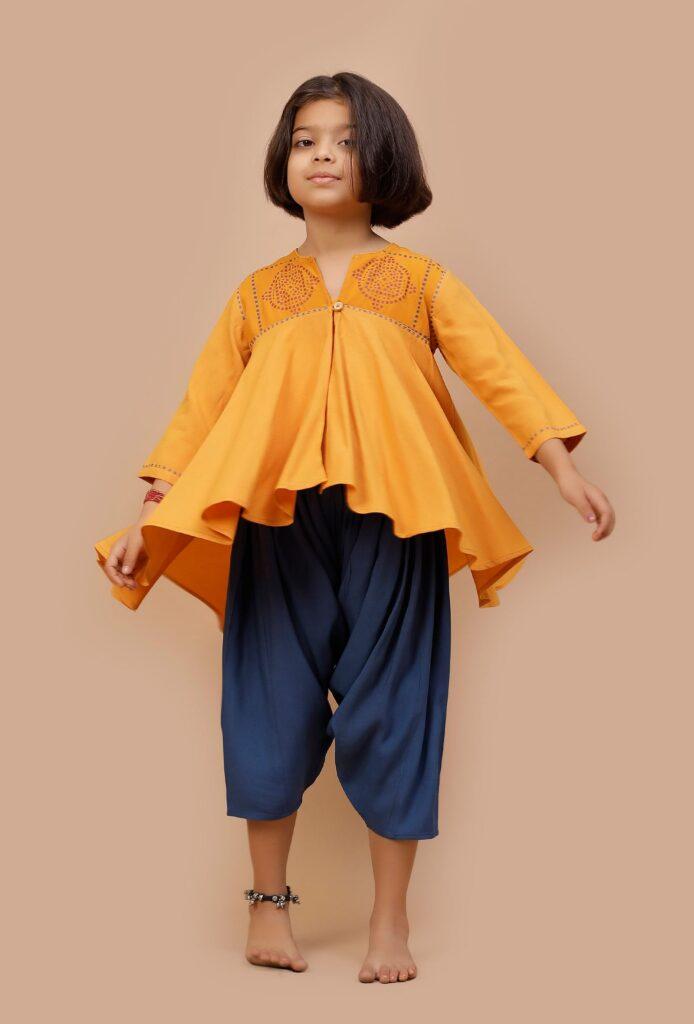 Dhoti Style Salwar Set For Girls & Boys