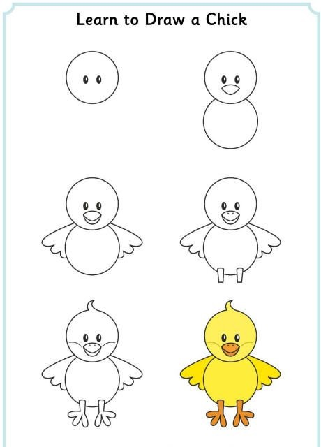easy drawing image for kids