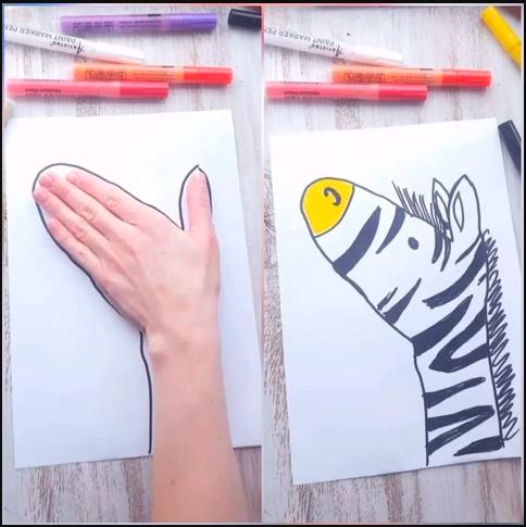 Hand tracing drawing
