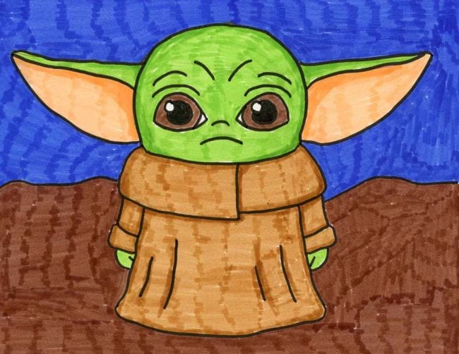Yoda drawing images for kids